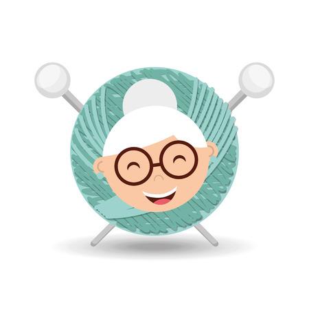 happy grandparents design, vector illustration eps10 graphic