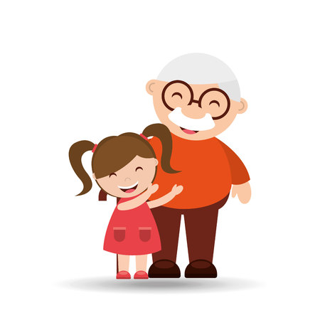 행복 조부모 디자인, 벡터 일러스트 레이 션 eps10에 그래픽 일러스트