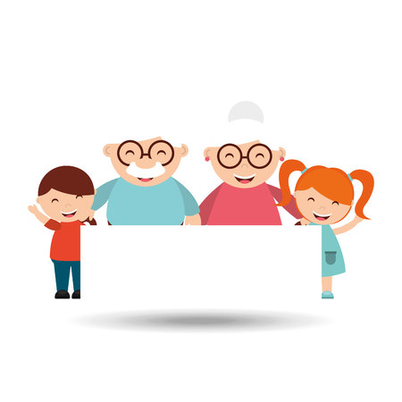 age old: happy grandparents design, vector illustration eps10 graphic