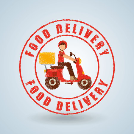 delivery icon: food delivery design, vector illustration eps10 graphic Illustration