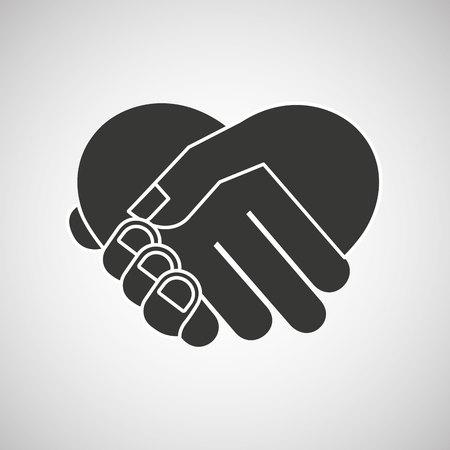 hand shake: diseño de movimiento de la mano, ejemplo gráfico del vector eps10 Vectores