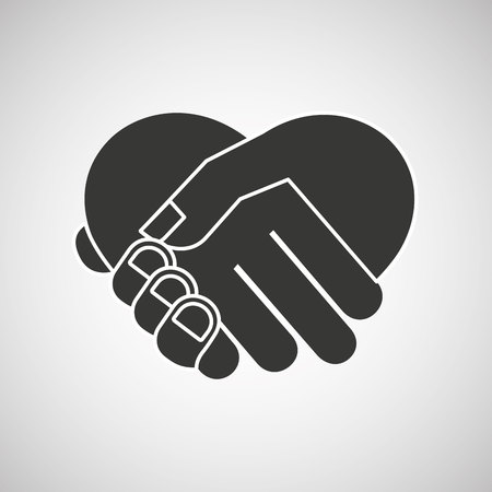 hand shake design, vector illustration eps10 graphic Imagens - 55397519