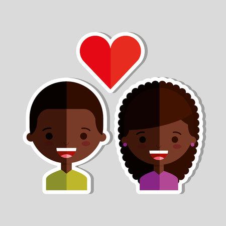 loving couple: loving couple design, vector illustration eps10 graphic Illustration