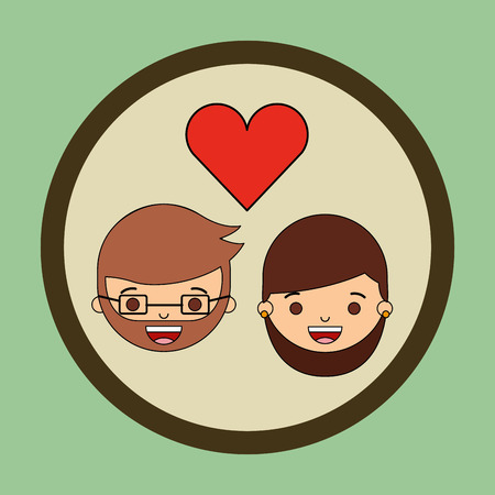 young relationship: loving couple design, vector illustration eps10 graphic Illustration