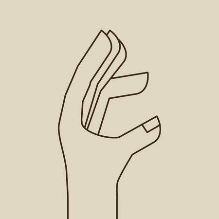 hand language: hand language design, vector illustration eps10 graphic