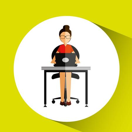 service desk: user online design, vector illustration eps10 graphic