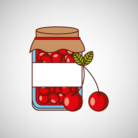 glass jars: fruit jam design, vector illustration eps10 graphic