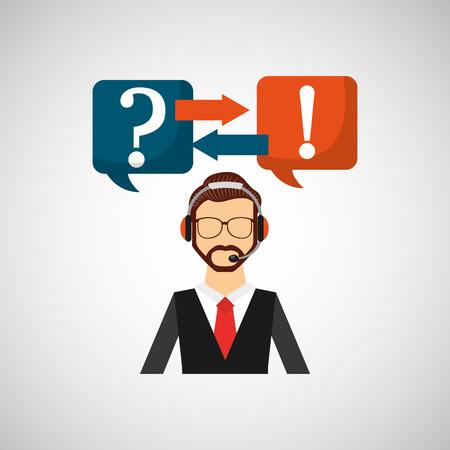 mobile operators: call center design, vector illustration eps10 graphic