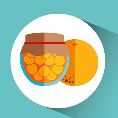 fruit jam: fruit jam design, vector illustration eps10 graphic