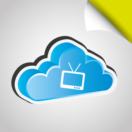antena: cloud computing design, vector illustration eps10 graphic