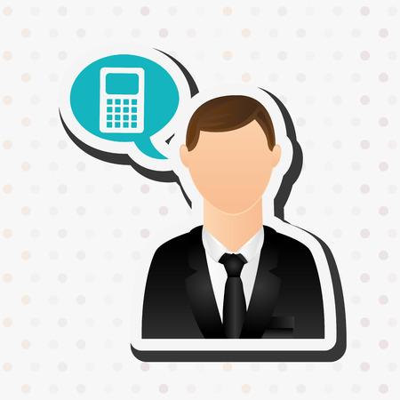 obra social: business person design, vector illustration eps10 graphic Vectores
