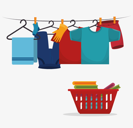 laundry service concept design, vector illustration eps10 graphic