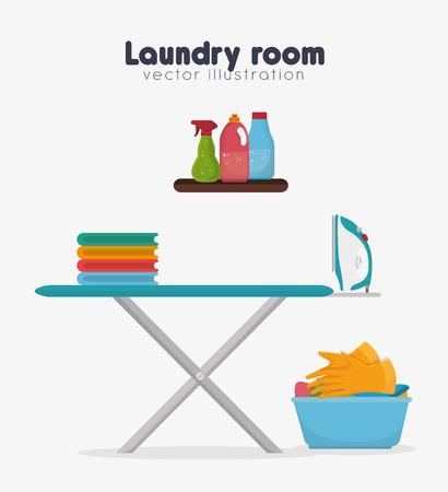 laundry concept: laundry service  concept  design, vector illustration eps10 graphic