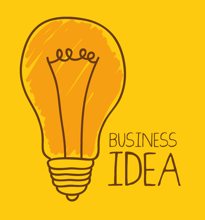contemplate: business idea design, vector illustration eps10 graphic