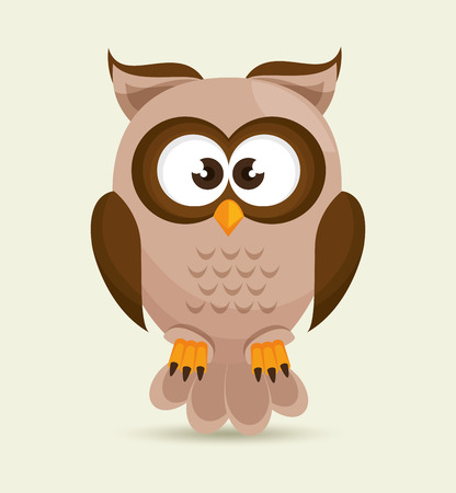 character design: Owl character design, vector illustration eps10 graphic