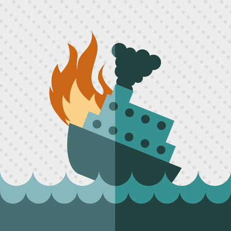 boat accident: insurance concept design, vector illustration eps10 graphic