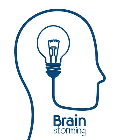 brain storming disegno, illustrazione grafica vettoriale eps10
