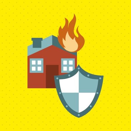 guard house: insurance concept design, vector illustration eps10 graphic