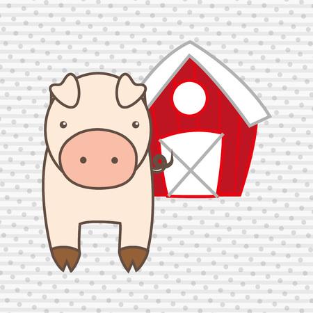 farmyard: animal farm design, vector illustration eps10 graphic  Illustration