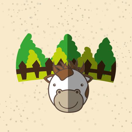 farmyard: animal farm design, vector illustration eps10 graphic