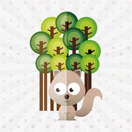 conception animale mignonne, illustration graphique eps10 Vecteurs