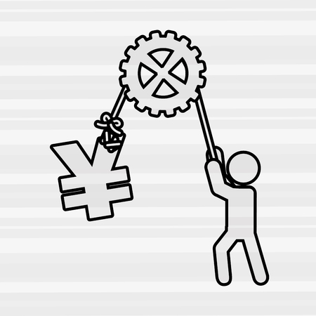 assisted: man lifting design, vector illustration eps10 graphic