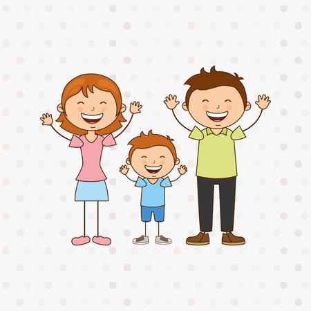 dad son: happy family design, vector illustration eps10 graphic