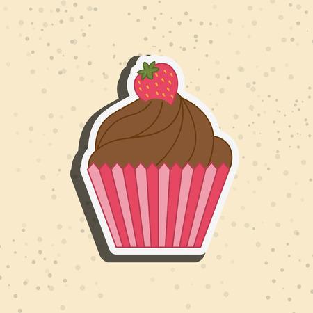 delicious: delicious cupcake design, vector illustration eps10 graphic Illustration
