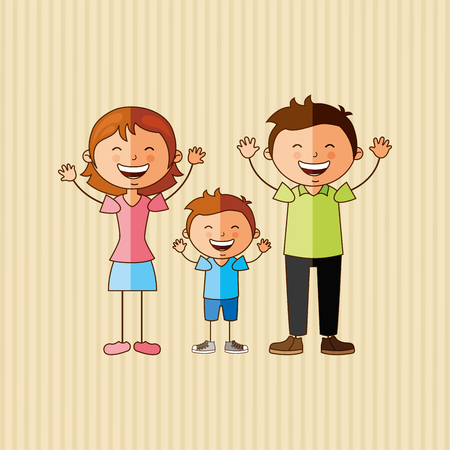 mom and son: happy family design, vector illustration eps10 graphic