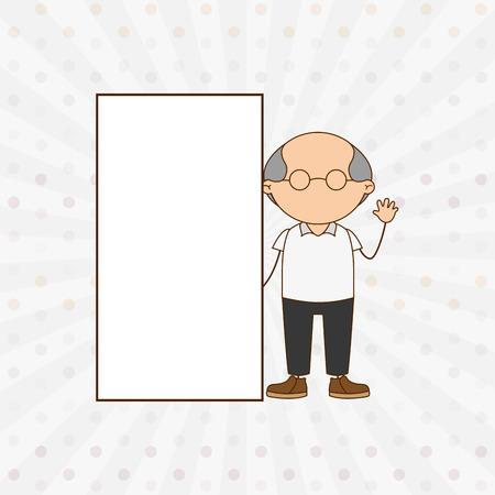 grandparent: happy grandparent design, vector illustration eps10 graphic
