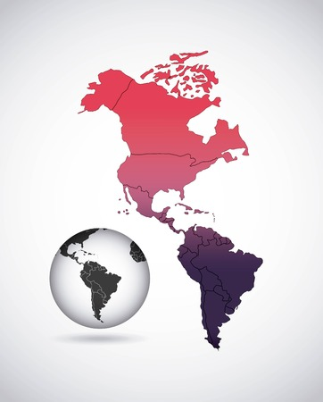 continente americano: diseño continente americano, ejemplo gráfico del vector eps10