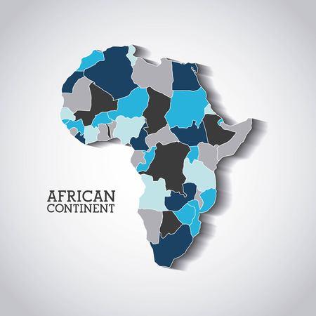 diseño continente africano, ejemplo gráfico del vector eps10
