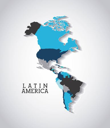 latin americans: american continent design, vector illustration eps10 graphic