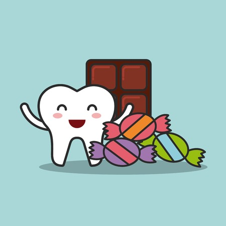 bad hygiene: dental hygiene design, vector illustration eps10 graphic