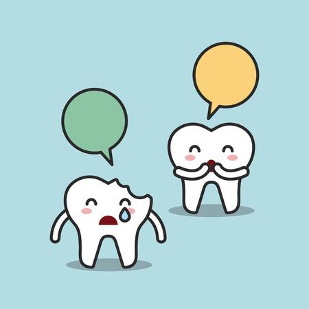 comunicacion oral: diseño de la higiene dental, ejemplo gráfico del vector eps10