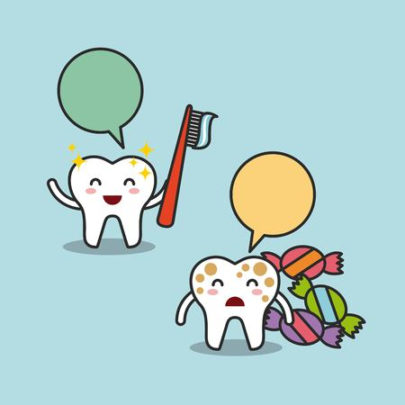 comunicacion oral: dise�o de la higiene dental, ejemplo gr�fico del vector eps10