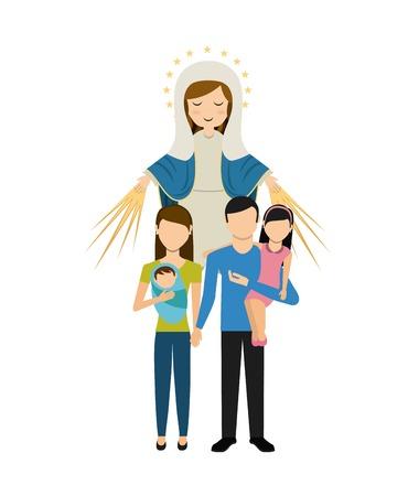 Diseño de la religión Católico, ejemplo gráfico del vector eps10 Foto de archivo - 55529428