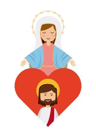 Catolic, 종교, 디자인, 벡터 일러스트 레이 션 eps10에 그래픽