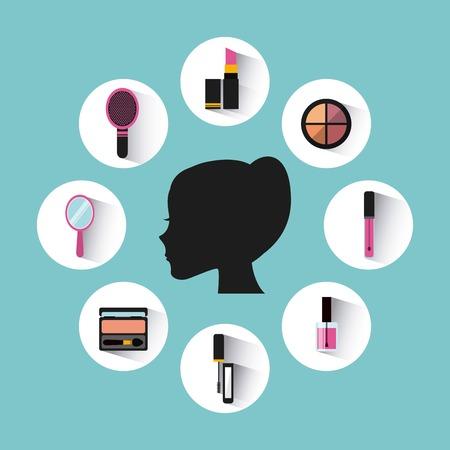 makeup artist: make-up artist design, vector illustration eps10 graphic