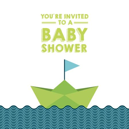 water birth: baby shower card  design, vector illustration eps10 graphic Illustration