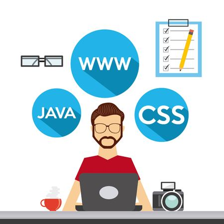 css3: programming language design, vector illustration eps10 graphic