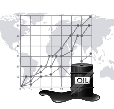 energy market: oil prices  design, vector illustration eps10 graphic Illustration