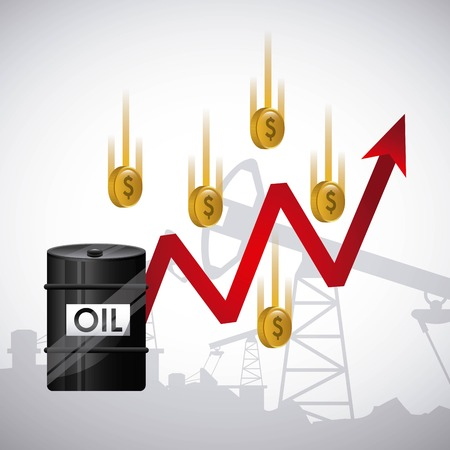 energy crisis: oil prices  design, vector illustration eps10 graphic Illustration