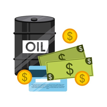energy market: World oil prices design, vector illustration eps10 graphic