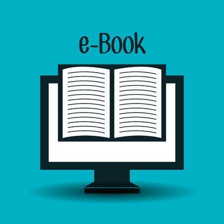 virtual school: electronic books  design, vector illustration eps10 graphic
