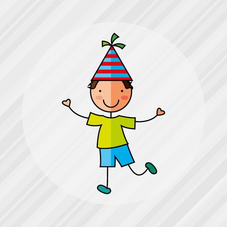 children party: happy children on  party design, vector illustration eps10 graphic