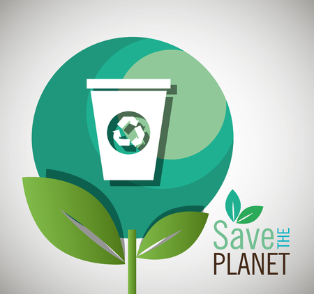 reduce: save the planet design, vector illustration eps10 graphic
