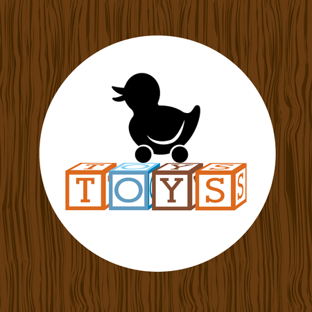 ducky: toys kids design, vector illustration eps10 graphic