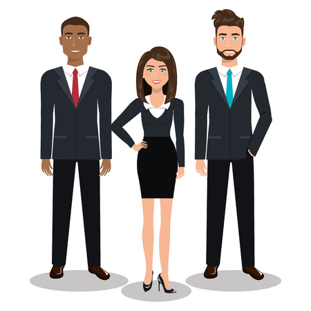 men cartoon: busines people design, vector illustration eps10 graphic Illustration