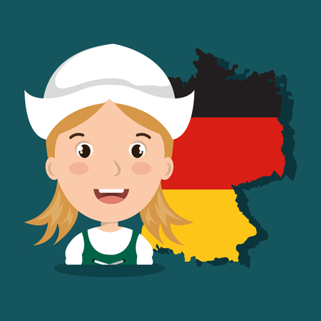 bavarian girl: German culture design, vector illustration eps10 graphic